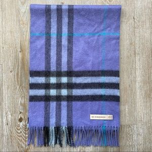 BURBERRY | Purple 100% Cashmere Scarf